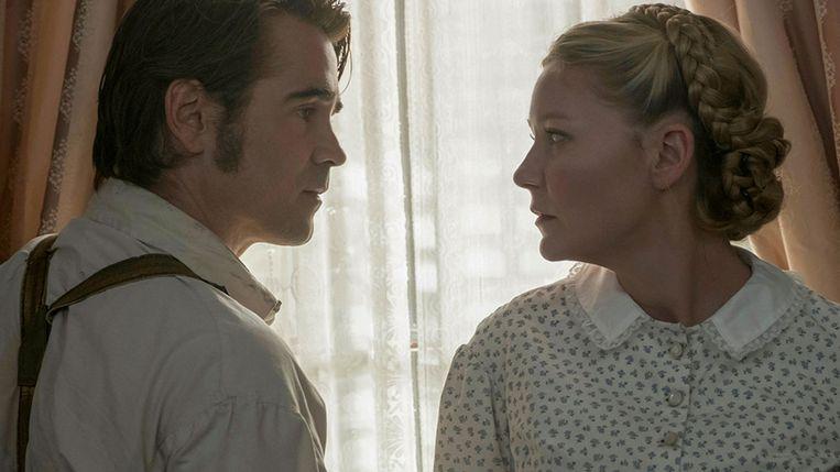 Colin Farrell en Kirsten Dunst in The Beguiled. Beeld
