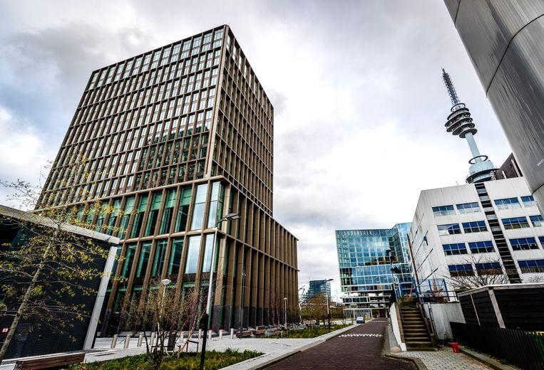 Het hoofdkantoor van het Europees Geneesmiddelenbureau (EMA) in Amsterdam. Beeld ANP