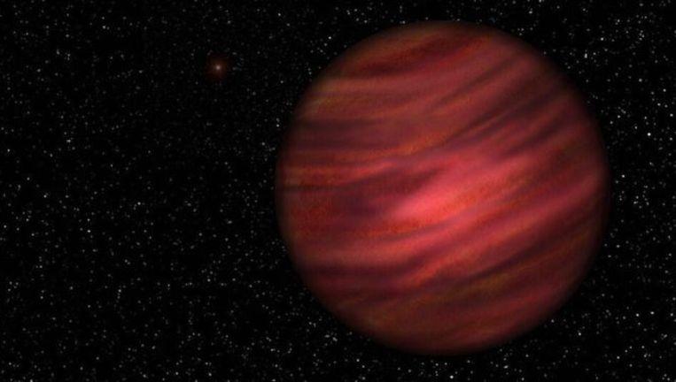 Een impressie van de planeet 2MASS J2126-8140. Beeld University of Hertfordshire/Neil James Cook