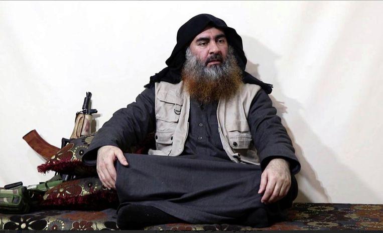 IS-leider Abu Bakr al-Baghdadi. Beeld AP