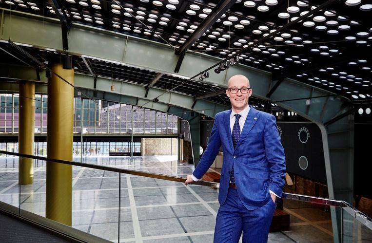 Erik-Jan Ginjaar van Postillion Hotels. Ze hebben de congresfaciliteiten van het WTC overgenomen.  Beeld Hollandse Hoogte / Jan de Groen
