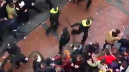 Straffe beelden: Nederlandse politie drijft dronken Engelse fans uit elkaar, zo'n 100 supporters opgepakt