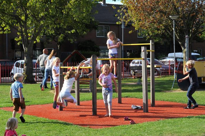 De speeltuin in Helwijk.