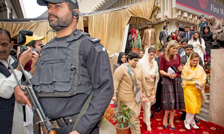 Maximale bescherming voor Máxima in Pakistan