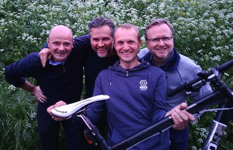 Dietbrand, Giovanni, Bart en Joost reden 250 kilometer voor de natuur.