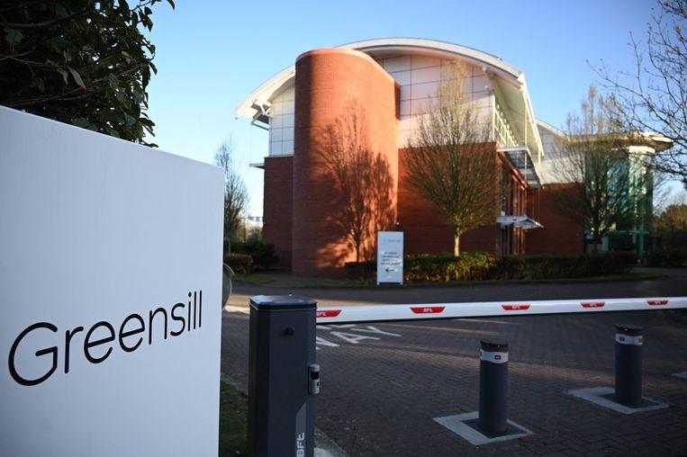 Een kantoor van Greensill in de buurt van het Engelse Warrington. Het bedrijf verstrekt leningen aan bedrijven die in financiële nood zijn.  Beeld AFP
