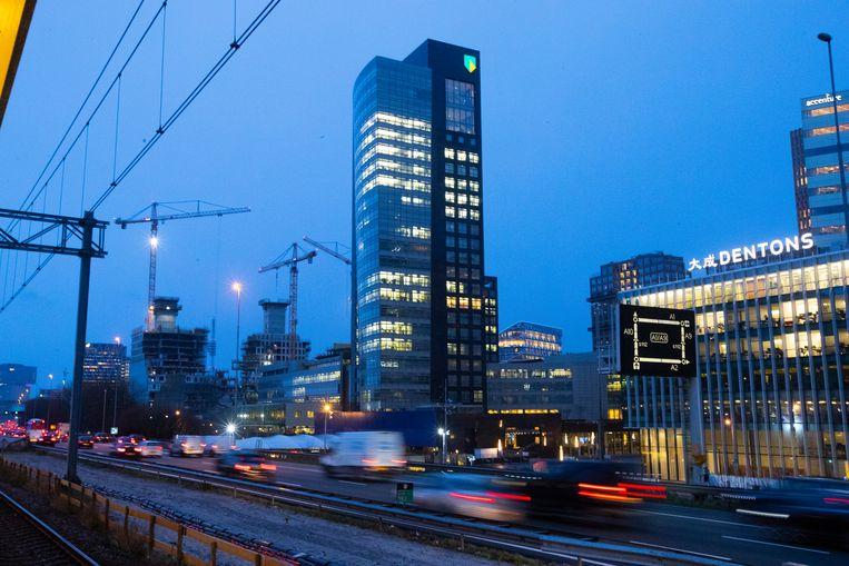 Het hoofdkantoor van ABN Amro aan de Amsterdamse Zuidas. Beeld AP