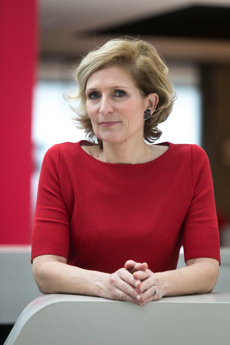 Véronique Goossens: 'De Belgische consument mag zich gelukkig prijzen dat de lonen worden geïndexeerd. Dat is elders niet zo.' Beeld RV
