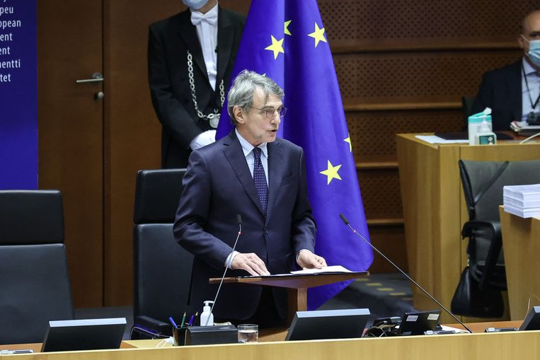 David Sassoli, de voorzitter van het Europees Parlement.  Beeld AFP
