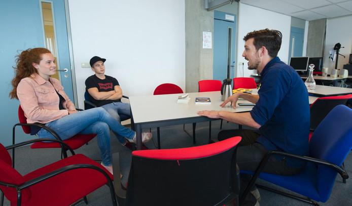 Van links naar rechts: Mayke Been, Levy Branders en Jeroen Timmers. Foto: Frans Nikkels