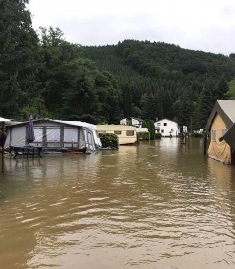 Watersnood treft ook oud-kroegbaas uit Gramsbergen op camping in België: 'Je staat erbij, kijkt ernaar, maar kunt niks doen'