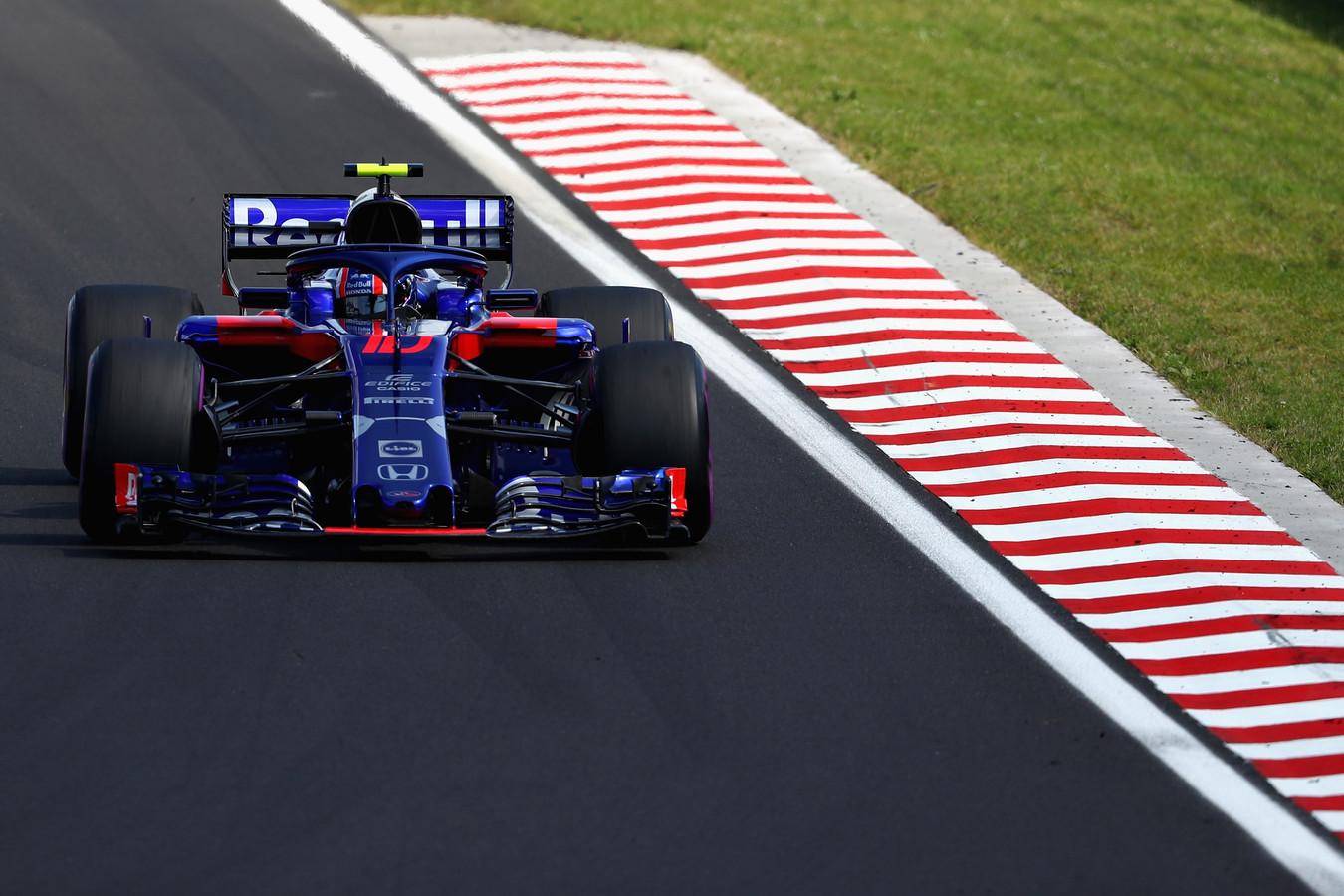 Pierre Gasly haalde in Hongarije het beste seizoensresultaat van Toro Rosso met een zesde plaats