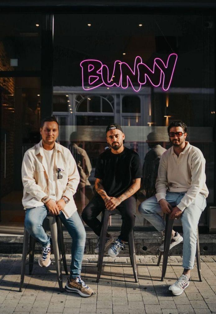 De gauche à droite: Tim, Javier et David, les patrons de Bunny, à Liège.
