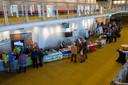 Markt van initiatieven en organisaties met als thema 'Samen werken aan duurzame wereld' in het Parktheater in Eindhoven.