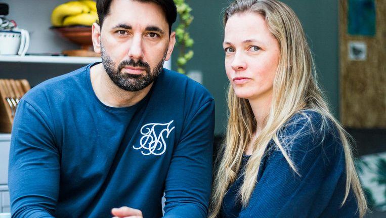 Hazbin Cucovic, eigenaar van bar Suzy Wong, met zijn vrouw Rozemarijn Cucovic-de Heer Beeld Tammy van Nerum