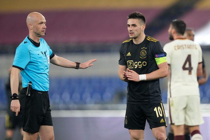 De afgekeurde goal van Dusan Tadic pakte goed uit voor AS Roma.