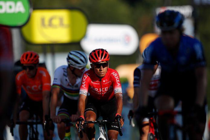 Nairo Quintana in actie tijdens de Tour de France.