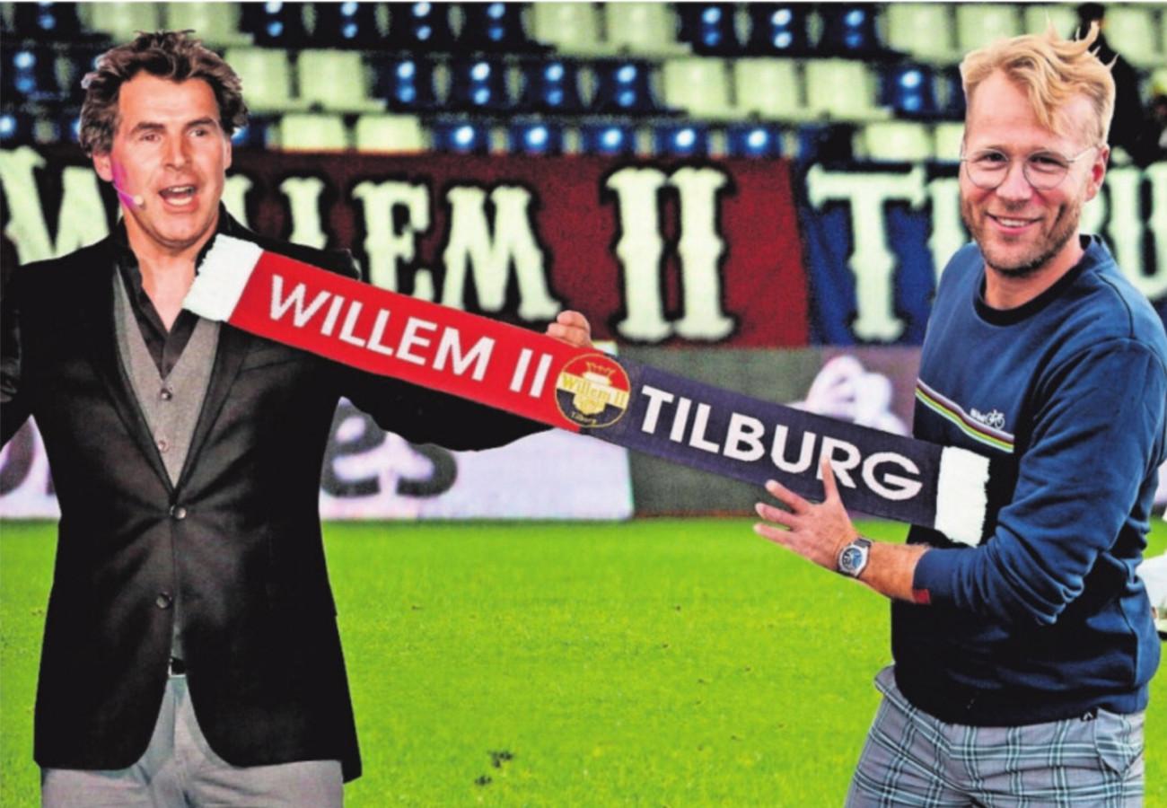Toine van Peperstraten en Leo Alkemade zijn Willem II-supporters.