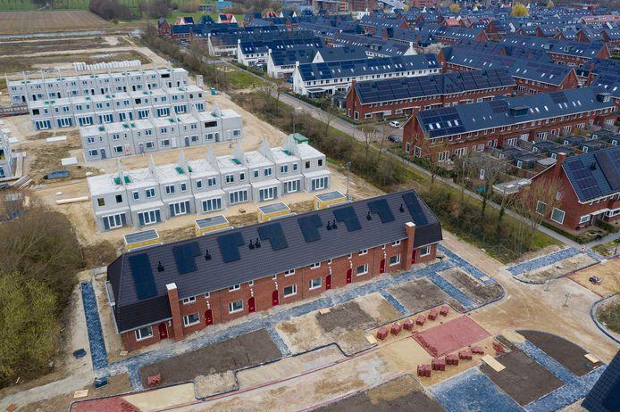 De bouw van Buitenoord in Wageningen.