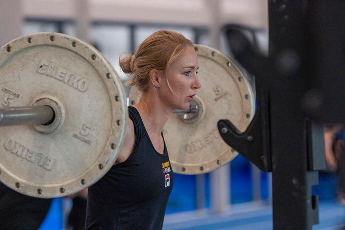 Carlijn Achtereekte in training.