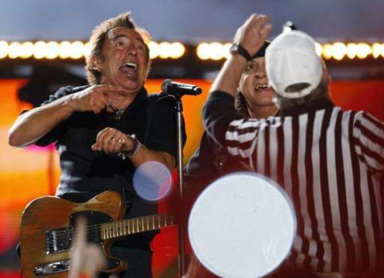 Bruce Springsteen keerde tijdens de rust terug naar zijn 'Glory Days'. Beeld UNKNOWN