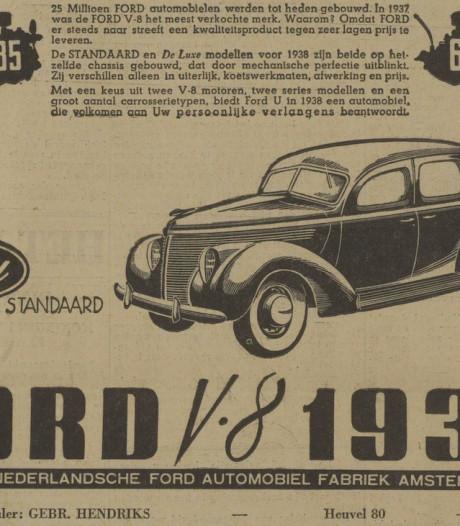 Ook die mooie, verstopte Ford V8 viel ten prooi aan de bezetter