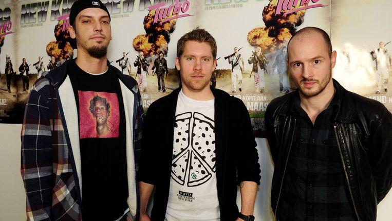 Acteurs New Kids Turbo: Flip van der Kuil, Tim Haars, Huub Smit. © ANP Beeld