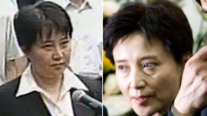Celle que les Chinois suspectent d'être une doublure (à gauche) et Gu Kailai avant le procès (à droite).