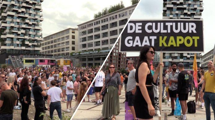 Eerder Unmute Us-protest op Ketelhuisplein op Strijp-S in Eindhoven
