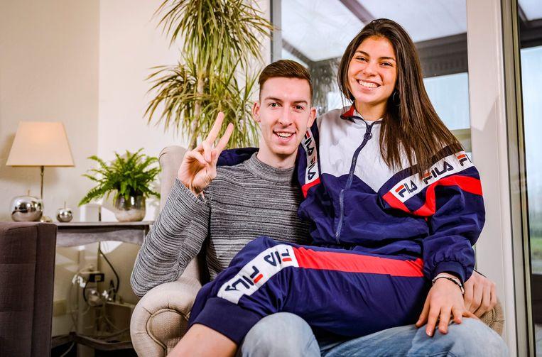 Céline en haar vriend Michiel hebben meer dan 500.000 abonnees op YouTube en samen zo'n 13 miljoen volgers op TikTok. Beeld Photo News