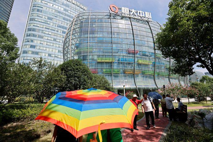 Het 'Evergrande Center' van Evergrande Group in Shanghai, China.