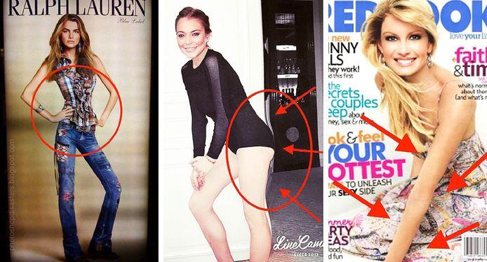 Ralph Lauren/Instagram Lindsay Lohan/Redbook - Fotomontage HLN