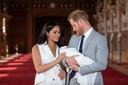 Meghan Markle et le prince Harry, quelques jours après la naissance de leur fils Archie.