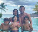 Lionel Messi et sa famille en République Dominicaine.