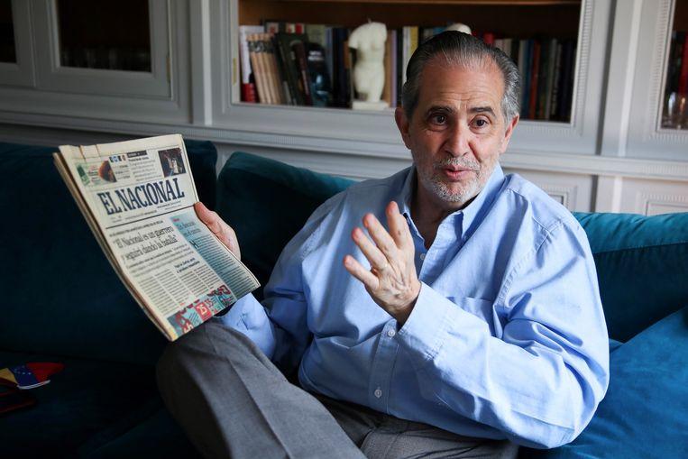 Directeur Miguel Henrique Otero van El Nacional. Beeld EPA