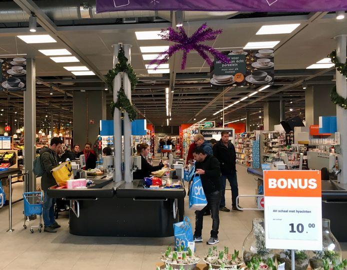 Best handig, een supermarkt die open is op eerste kerstdag.