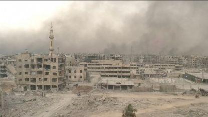 Na de bevrijding, de menselijke en materiële kost. Beelden na de herovering van Damascus.