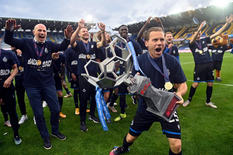 Club Brugge werd kampioen van het seizoen 2020-2021 Beeld Photo News