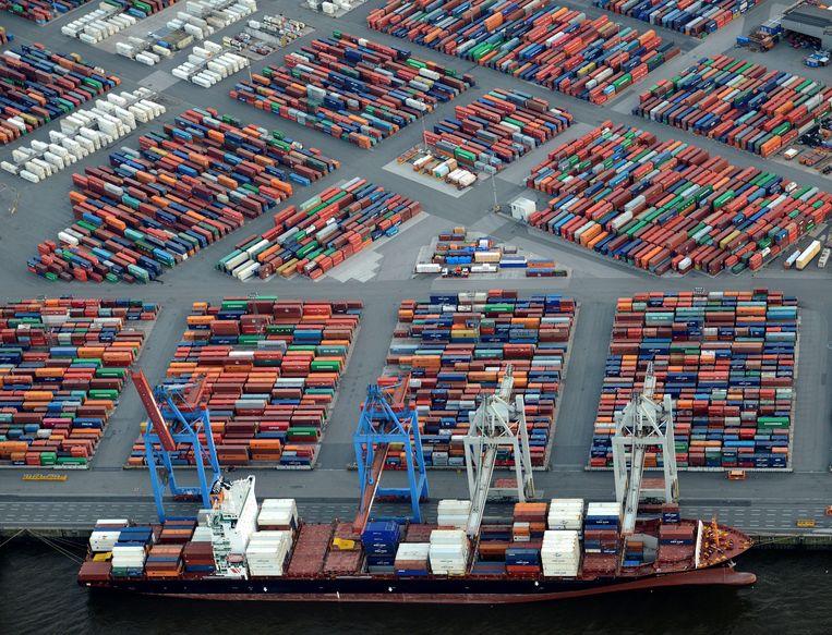 De containerhaven van Hamburg. Beeld REUTERS