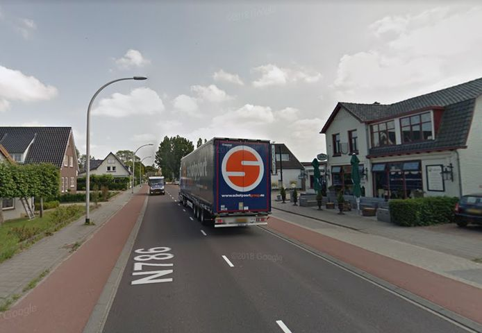 De N786 in Loenen.