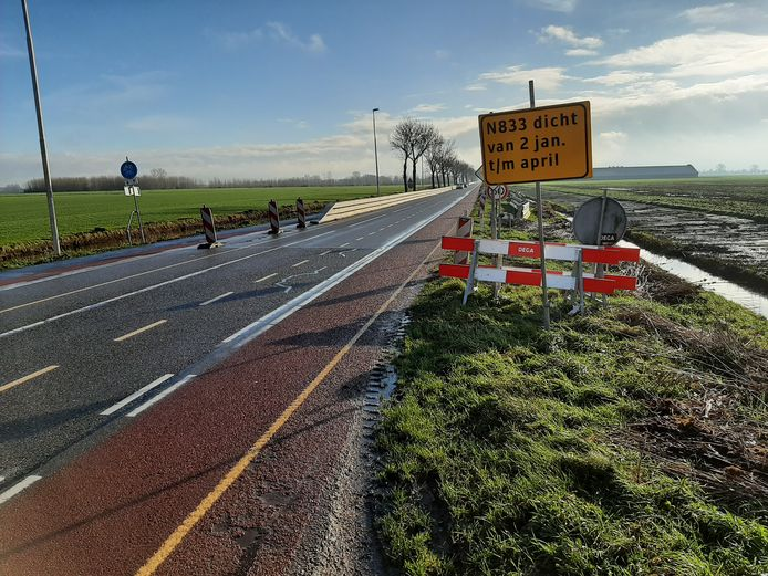 De N833 tussen Culemborg en Buurmalsen gaat een paar maanden dicht.