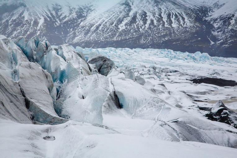 De Vatnajökull-gletsjer op IJsland, waar koolstof uit de lucht wordt gefilterd om de opwarming tegen te gaan. Beeld Photothek via Getty Images