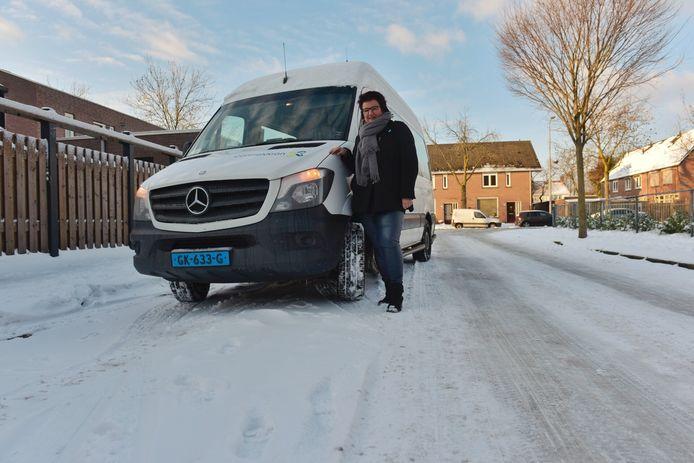 Taxbus-chauffeur Heidi Verkennis.