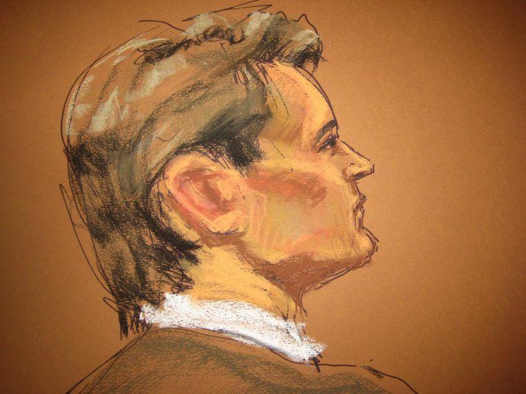 De jury, die al het technische bewijs moet beoordelen, acht hem schuldig. De rechter geeft hem levenslang. Ross Ulbricht moet voor altijd verdwijnen uit de Amerikaanse samenleving. Beeld reuters