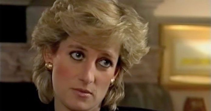 Diana lors de son interview avec Martin Bashir en 1995