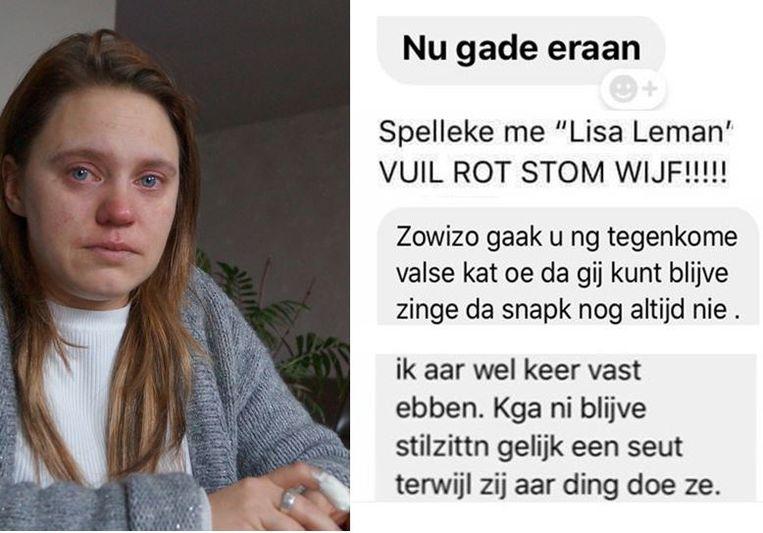 Lisa Leman is het slachtoffer van een gerichte haatcampagne.