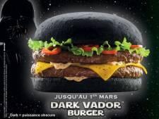 """Dark Vador"", le burger de Quick qui fait peur"
