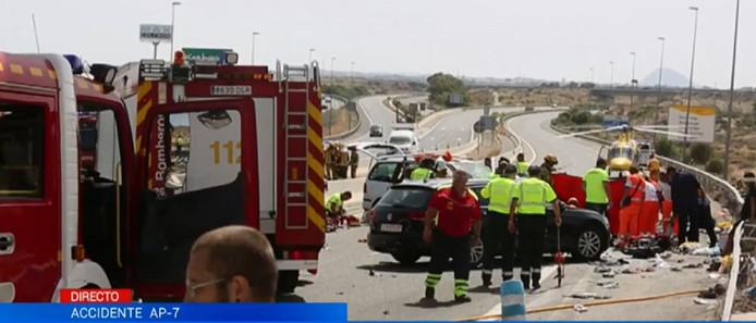 Het fatale ongeval vond gisteren plaats nabij Alicante.