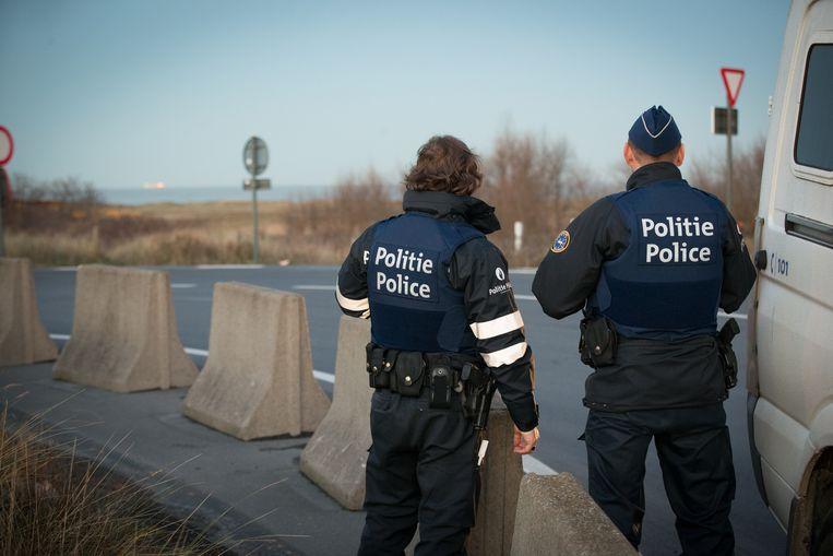 Archiefbeeld van een actie tegen transmigranten in Zeebrugge.