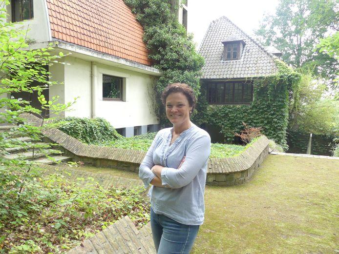 Ingrid De Meester aan Villa Zomernest in Sint-Martens-Latem.
